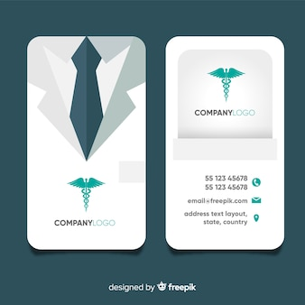 Carte De Visite Professionnelle Avec Concept Medical
