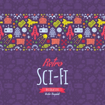 Carte de décoration colorée rétro