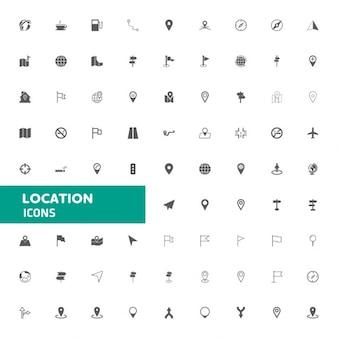 Carte des icônes et icônes Emplacement