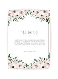 Carte de design floral de vecteur.