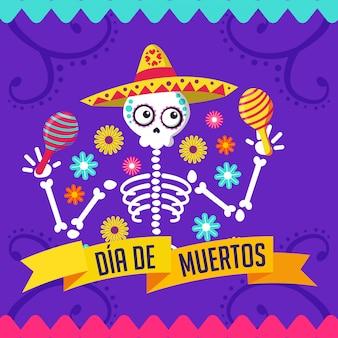 Carte de dessin animé jour de la mort