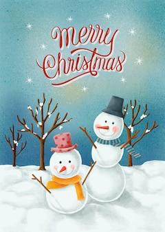 Carte Dessinée à La Main Joyeux Noël Vecteur gratuit