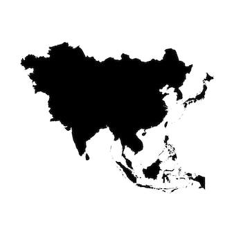 Carte détaillée de l'asie