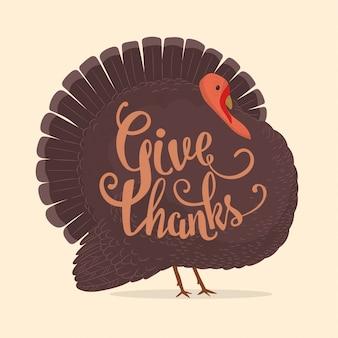 Carte de dinde de thanksgiving