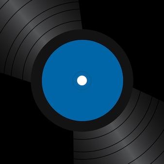 Carte avec disques vinyles et place pour le texte