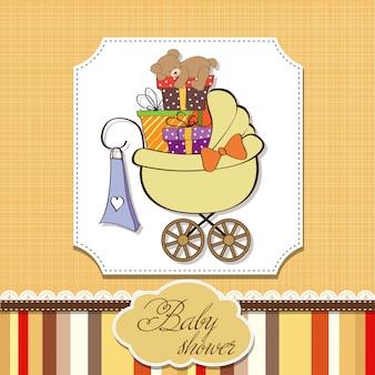Carte de douche de bébé avec des coffrets cadeaux