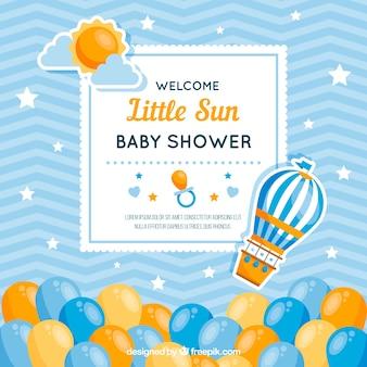 Carte de douche de bébé mignon