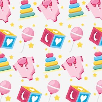 Carte de douche de bébé avec motif de fond