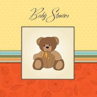 Carte de douche de bébé avec nounours