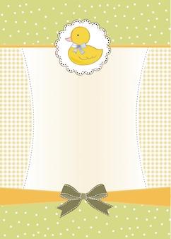 Carte de douche de bébé avec petit canard
