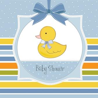 Carte de douche de bébé avec petit duc