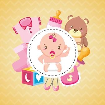 Carte de douche de bébé