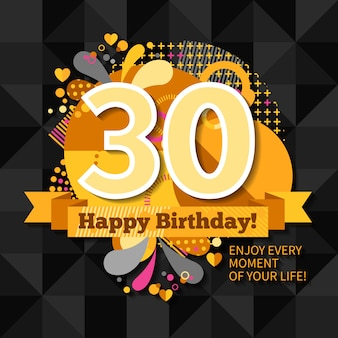 Carte du 30e anniversaire