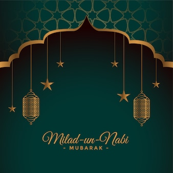Carte du festival milad un nabi islamique