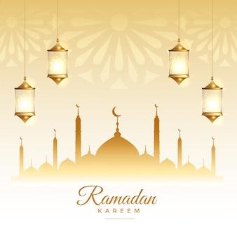 Carte du festival de la saison du ramadan kareem islamique