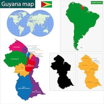 Carte du guyana