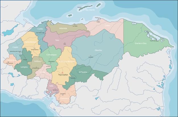 Carte du honduras