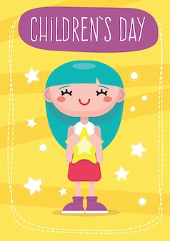 Carte du jour de colorful enfants