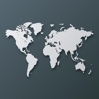Carte du monde 3d abstrait