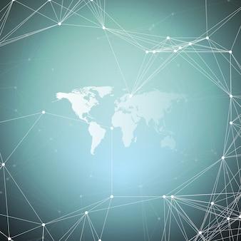 Carte du monde blanc avec motif de chimie