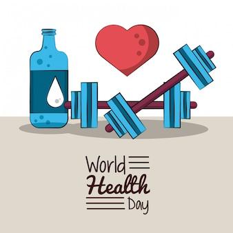 Carte du monde en bonne santé