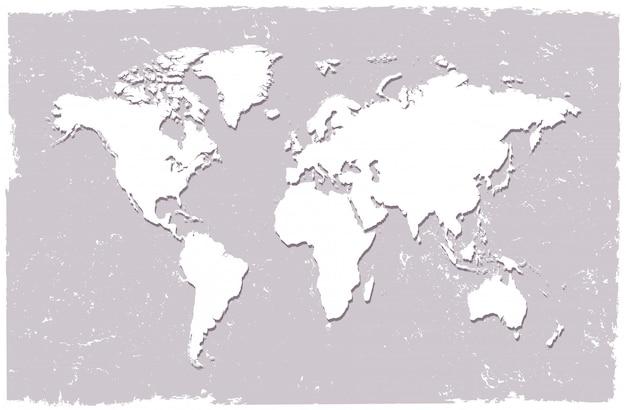 Carte du monde dans un style vintage