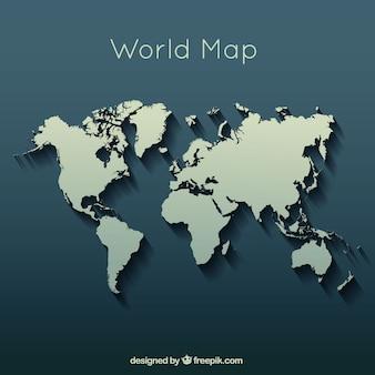 Carte du monde élégant