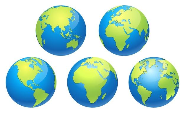 Carte du monde globe terrestre