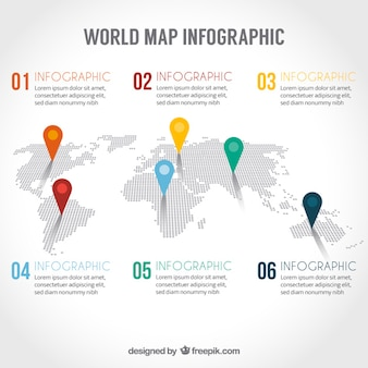 Carte du monde infographie