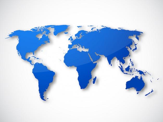 Carte du monde isolé