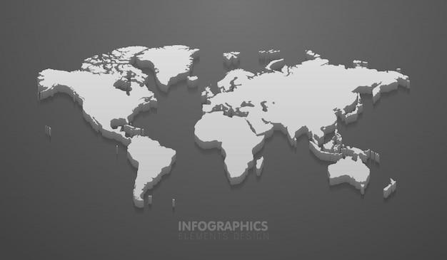 Carte du monde minimaliste