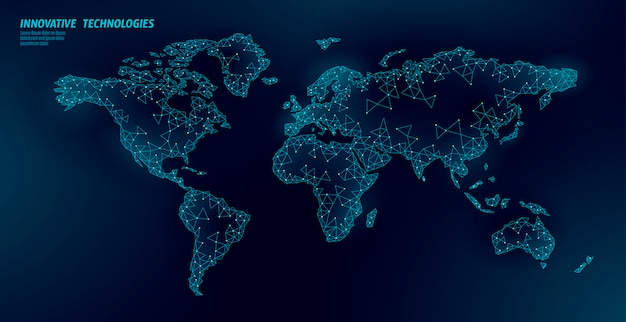 Carte du monde planète terre connexion commerciale mondiale.