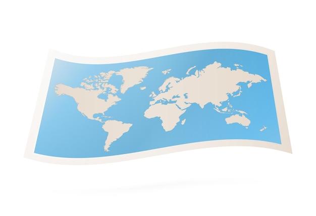 Carte du monde pliée de vecteur.