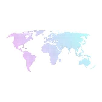 Carte du monde en pointillés colorés