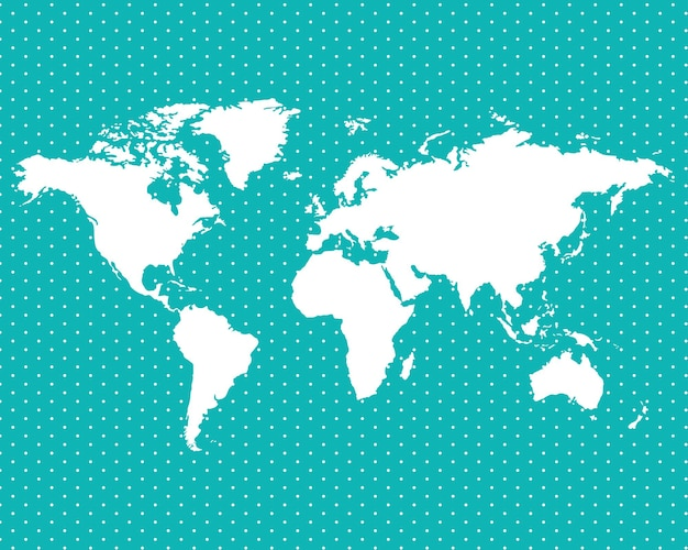 Carte du monde sur les points