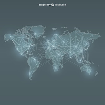 Carte du monde en réseau