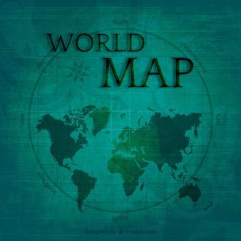Carte du monde en style vintage