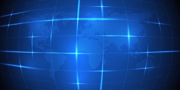 Carte du monde de vecteur