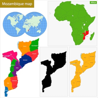 Carte du mozambique