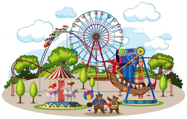 Une carte du parc à thème