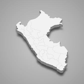Carte du pays avec bordures