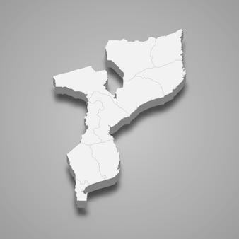 Carte du pays avec les frontières des régions
