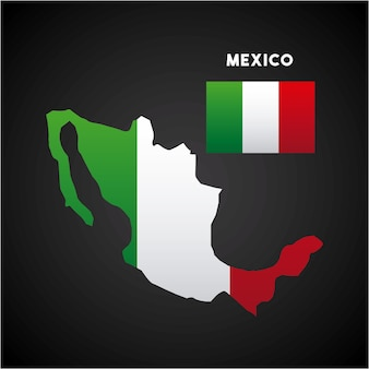 Carte du pays mexique