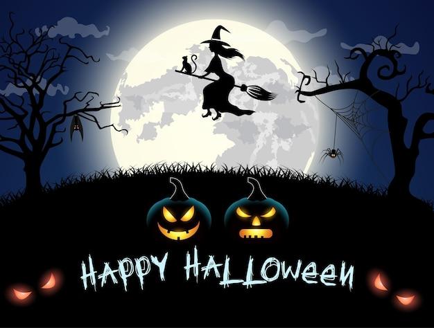 Carte effrayante pour halloween.
