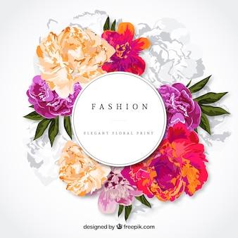Carte élégante florale