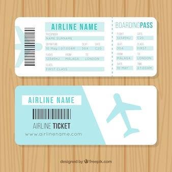 Carte d'embarquement nice avec avion bleu