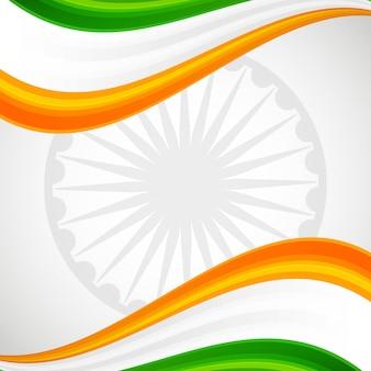 Carte d'emblème drapeau et roue patrioc inde