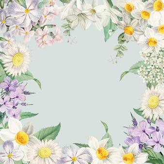 Carte encadrée de fleurs d'été