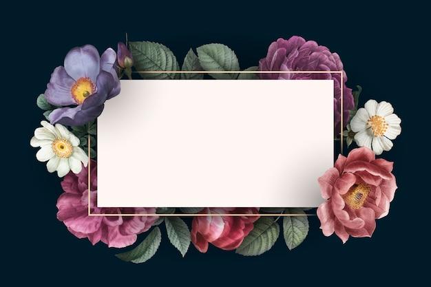Carte encadrée florale