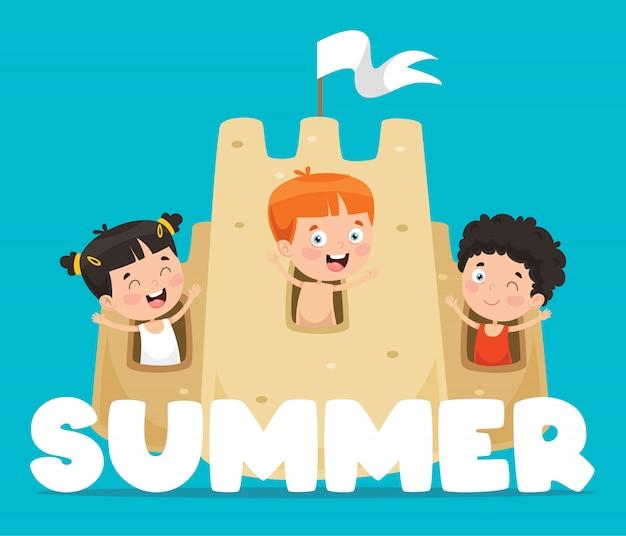 Carte enfants d'été